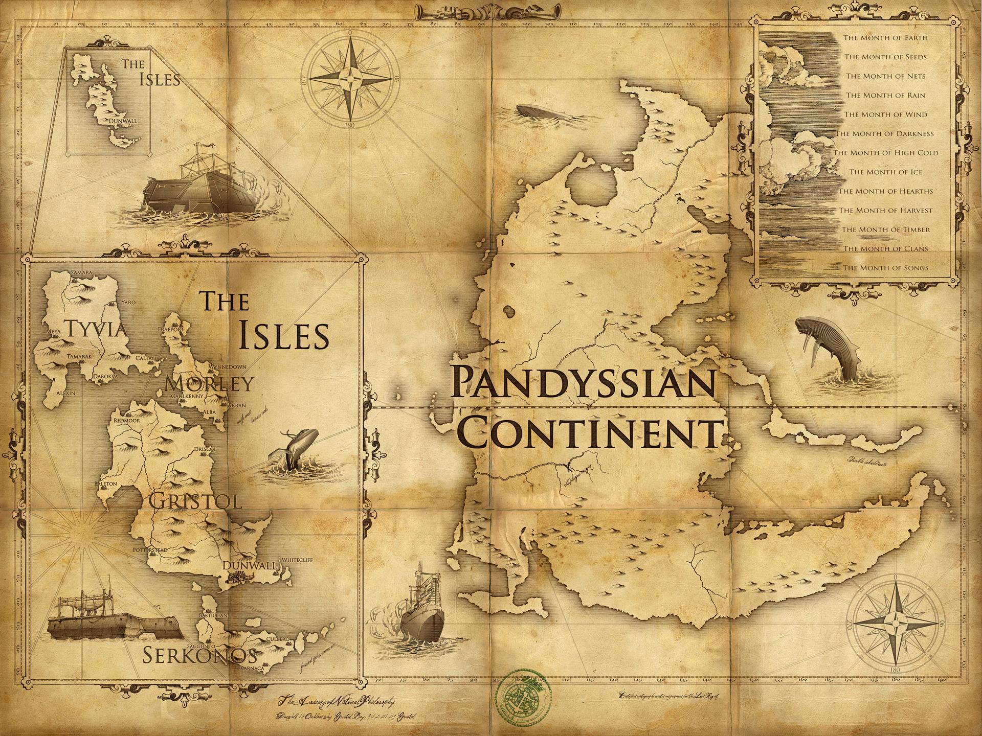 Карта мира Dishonored